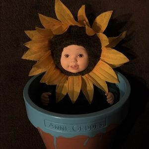 Anne Geddes 'Flower Pot Baby' 🌻 Sunflower EUC
